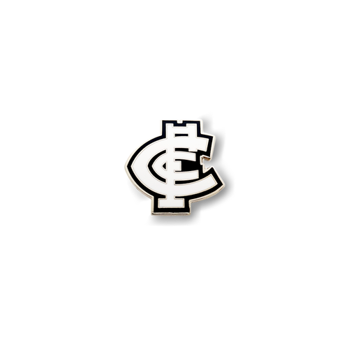 Carlton Monogram Logo Pin