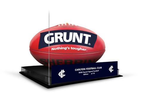 Carlton Football Club Official AFL 2020 Team Signed Boxed Football