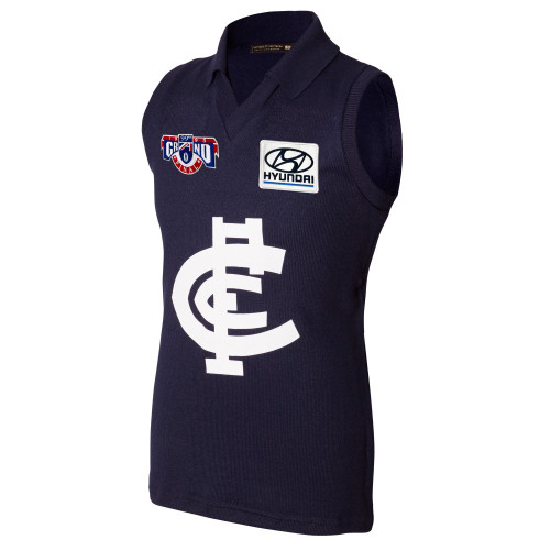 Carlton Fibre of Football 25 Year Anniversary 1995 Grand Final Guernsey