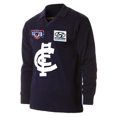 Carlton Fibre of Football 25 Year Anniversary 1995 Grand Final Long Sleeve Guernsey