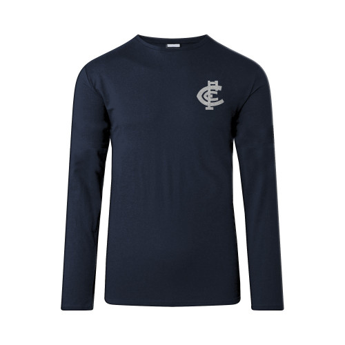 Carlton Mens Big Logo Long Sleeve Tee