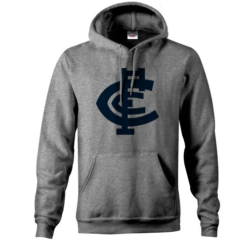 Carlton CFC Collection Pullover Hood - Grey - Mens