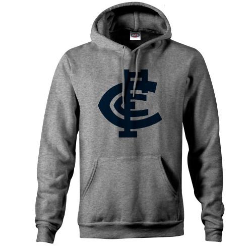 Carlton CFC Collection Pullover Hood - Grey - Mens