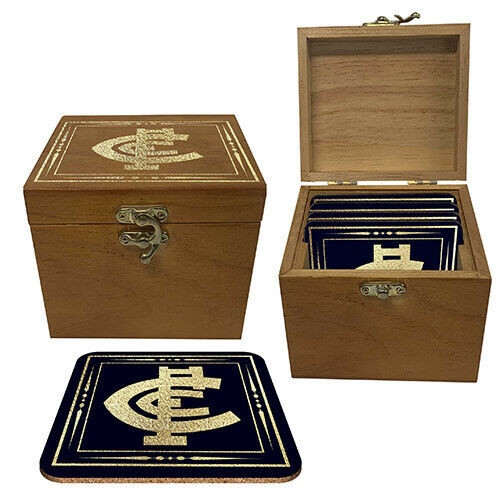 Carlton Set of 4 Cork Coasters in Box