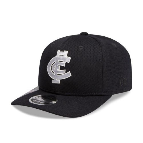 Carlton New Era Navy Mesh 9FIFTY Pre-Curved Snapback