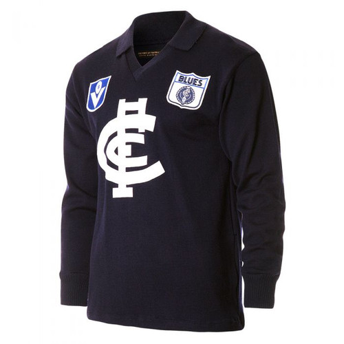 Carlton Fibre of Football Long Sleeve Guernsey