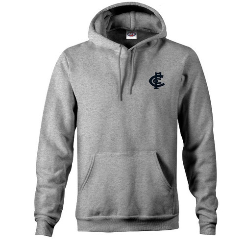 Carlton CFC Collection Logo Hood - Grey - Mens