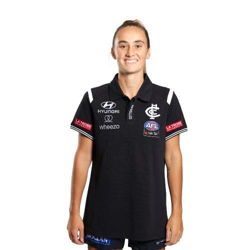 Carlton 2021 AFLW Media Polo - Womens
