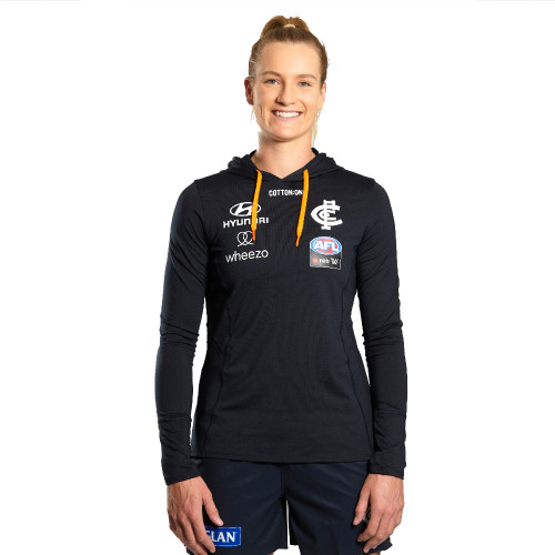 Carlton 2021 Cotton On AFLW  Hooded Performance Top - Womens