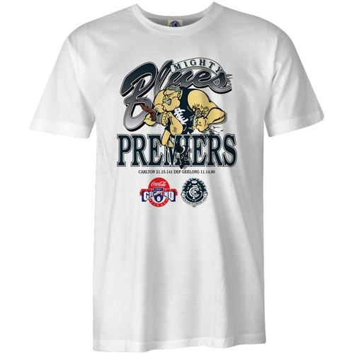 Carlton Mens Retro 95 Premiers Tee