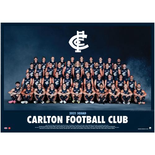 Carlton 2021 Team Poster