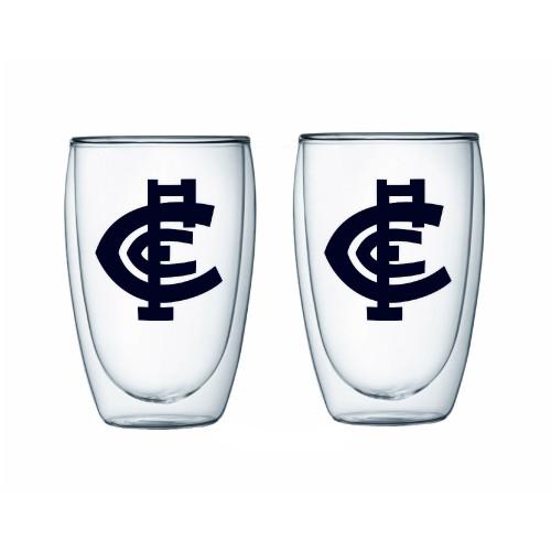 Carlton S/2 DBL Wall Glass