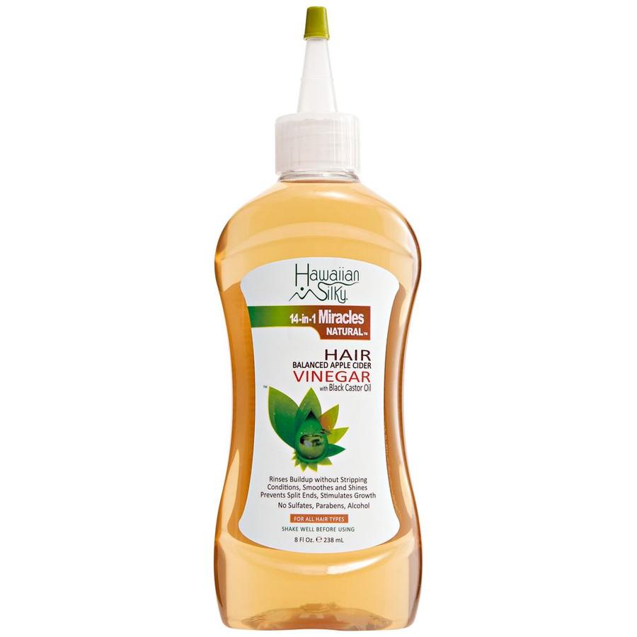 Hawaiian Silky Apple Cider Vinegar Hair Balanced Apple Cider Vinegar with Black Castor Oil 8oz