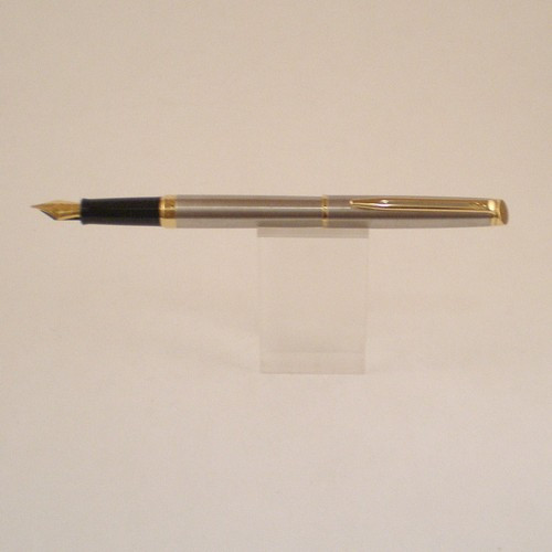 Hemisphere Stainless Steel Fountain Pen