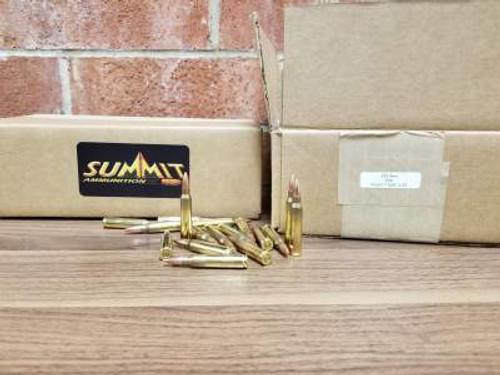 shop for summit 223 rem bulk ammo 55 gr full metal jacket 500