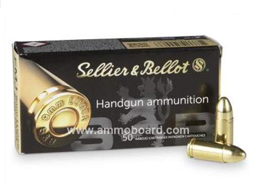 Sellier & Bellot 9mm Ammunition SB9A 115 Grain Full Metal Jacket Case of  1000 Rounds