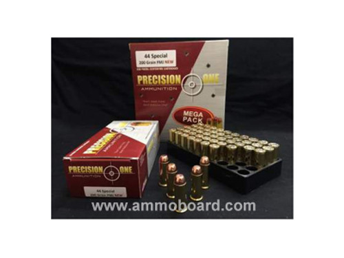 Precision One 44 Special Ammunition 200 Grain Full Metal Jacket 1000 rounds