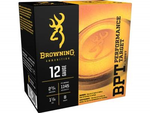 "Browning 12 Gauge Ammunition Performance Target B193611228 2-3/4"" 1-1/8oz #8 250 rounds"