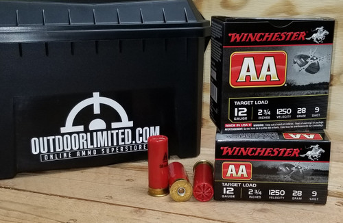 "Winchester 12 Gauge Ammunition AALE12509 2-3/4"" #9 Shot 1oz 1250fps Case of 250 Rounds"