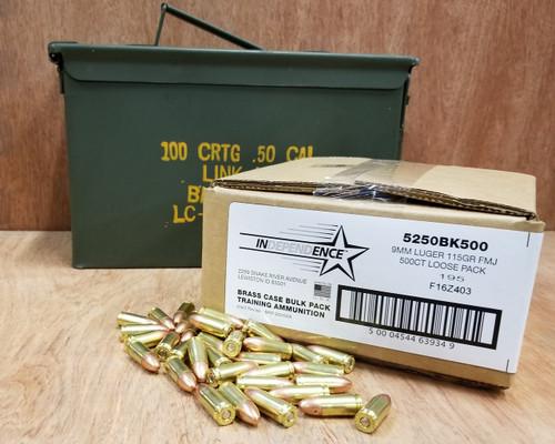 bundle federal 9mm ammunition independence ind 5250bk500can 115
