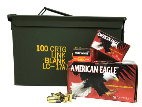 Bundle of Federal 22LR Ammunition American Eagle AE5022 40 Grain Lead Round Nose High Velocity Inside US Surplus Ammo 3000 Rounds