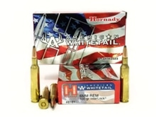 Hornady 6mm Rem Ammunition American Whitetail 8161 100 Grain Interlock Soft Point Case of 200 Rounds