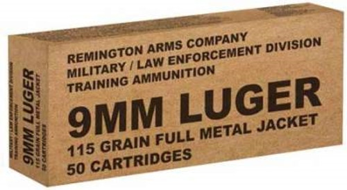 Remington 9mm B9MM3 115 gr FMJ RN CASE 500 rounds