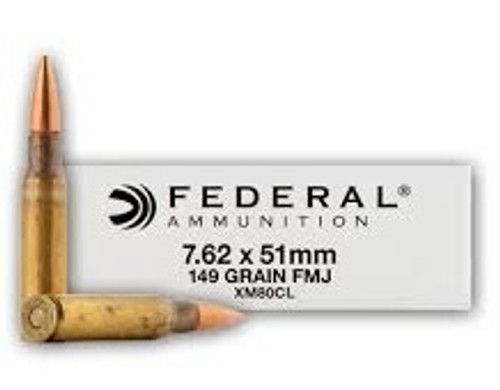 Federal 7.62 NATO XM80CL 149 Grain FMJ 500 rounds