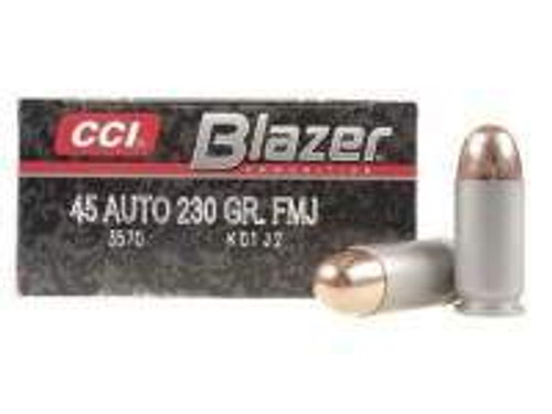 CCI 45 ACP Ammunition Blazer 3570 230 Grain Full Metal Jacket Case of 1000 Rounds