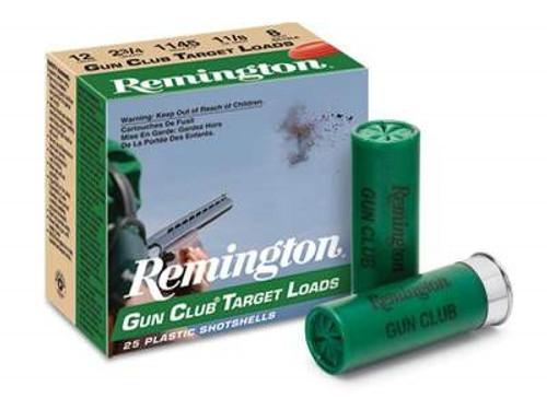 """Remington 12 Gauge Ammunition Gun Club GC12L7 2-3/4"""" 1-1/8oz #7.5 1145fps 250 rounds"""