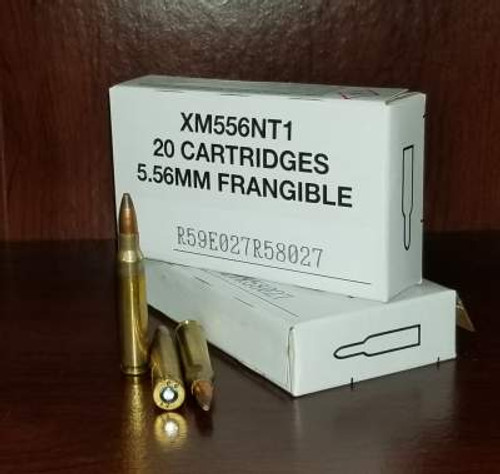 Federal 5.56x45mm Ammunition XM556NT1 50 Grain Non-Toxic Frangible Soft Point 500 rounds
