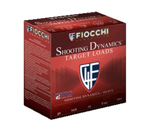 "Fiocchi 12 Gauge Ammunition Shooting Dynamics 12SD18L8 Target Loads 2-3/4"" #8 Shot 1-1/8oz 1165fps 250 Rounds"