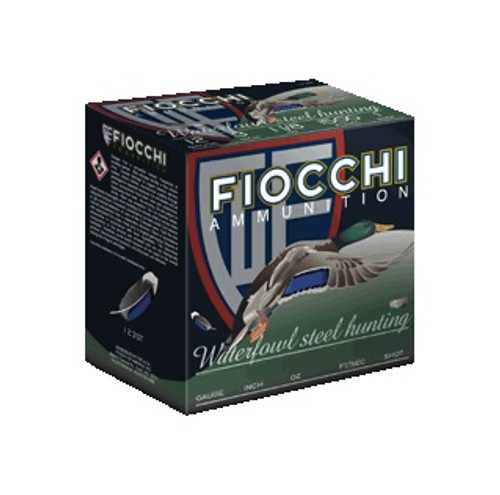 "Fiocchi 12 Gauge Ammunition Shooting Dynamics 123ST4 3"" Steel #4 Shot 1 -1/8oz 1500fps 250 Rounds"