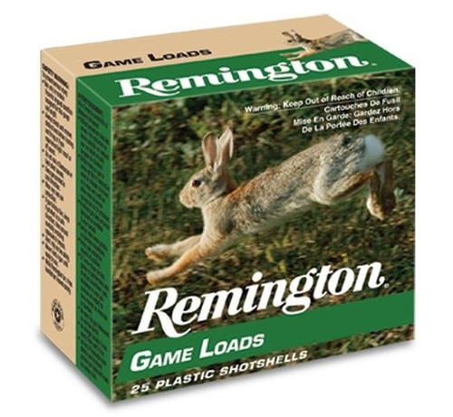 "Remington 12 Gauge Ammunition Game Load GL128 2-3/4"" #8 Shot 1oz 1290fps Case of 250 Rounds"