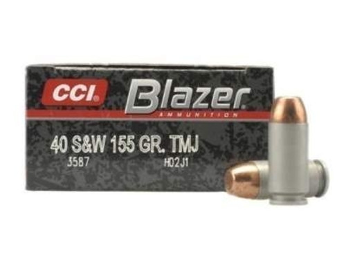 CCI 40 S&W Ammunition Blazer Brass 3587 Full Metal Jacket Case of 1000 Rounds