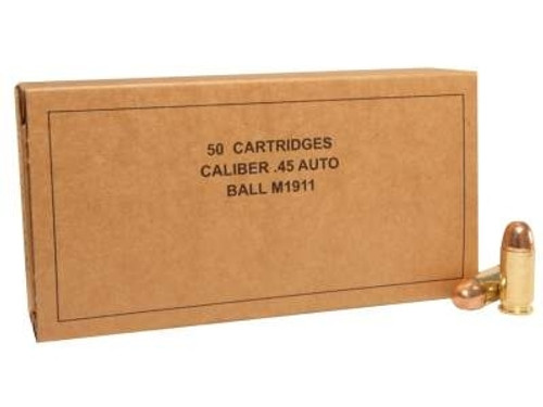 Winchester 45 ACP Ammunition Service Grade Ball M1911 SG45W 230 Grain Full Metal Jacket Case of 500 Rounds