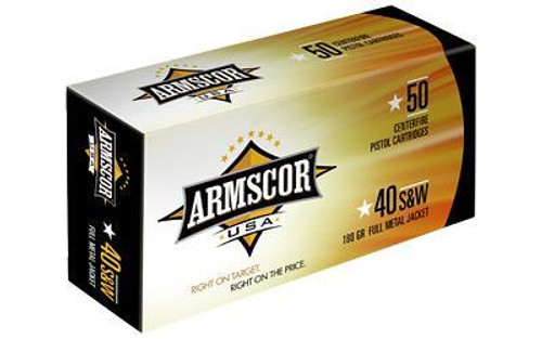 Armscor 40 S&W Ammunition FAC402N 180 Grain Full Metal Jacket Case of 1000 Rounds