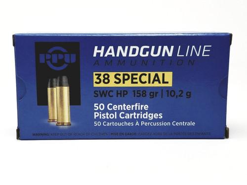 Prvi PPU 38 Special Ammunition Handgun PPH38SH 158 Grain Semi Wadcutter Hollow Point Case of 500 Rounds