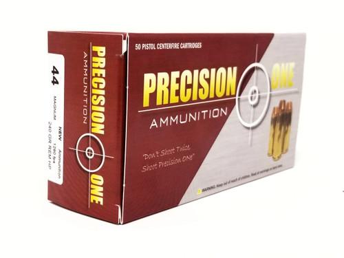 Precision One 44 Magnum Ammunition 986 240 Grains Rem Hollow Point Case of 500 Rounds