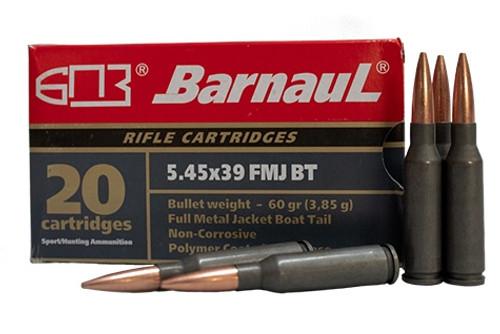 Barnaul 5.45x39 Steel Case Ammunition 60 Grain Full Metal Jacket CASE 500 Rounds