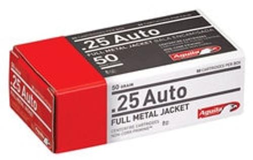 Aguila 25 ACP Ammunition 1E252110CASE 50 Grain Full Metal Jacket Case 1000 Rounds