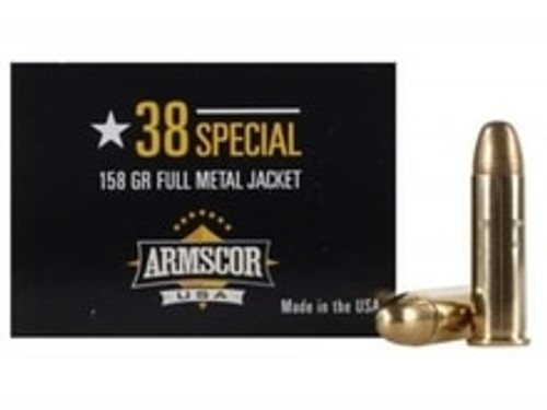 Armscor 38 Special Ammunition ARM50449CASE 158 Grain Full Metal Jacket Case 1200 Rounds
