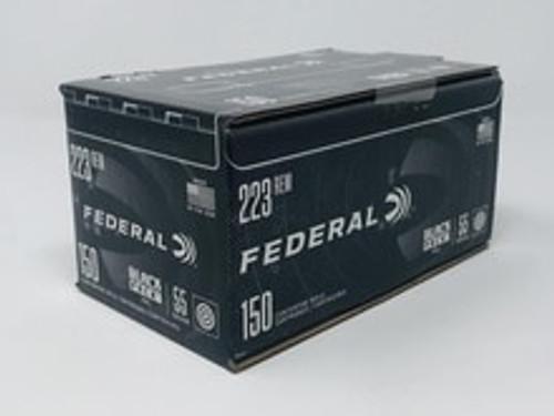 Federal 223 Rem Ammunition Black Pack AE223BF150 55 Gr Full Metal Jacket CASE 600 Rounds
