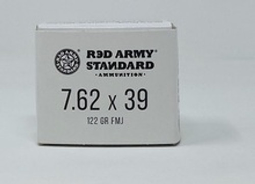 Century Red Army Russian 7.62x39 Ammunition AM3092 122 Grain Full Metal Jacket CASE 1000 Rounds