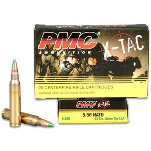 PMC 5.56x45mm NATO Ammunition X-T AC PMC556K M855 SS109 62 Grain Green Tip LAP Steel Core FMJ CASE 1000 rounds