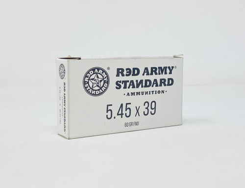 Century Red Army Standard 5.45x39 Ammunition AM3372 60 Grain Full Metal Jacket CASE 1000 Rounds