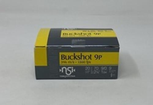 "Nobel Sport Italia 20 Gauge Ammunition ANS201BK10 2-3/4"" 1 Buck 9 Pellets CASE 200 Rounds"
