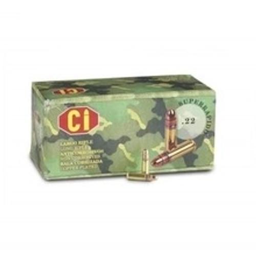 Cascade International CI 22 LR Ammunition 40 Grain High Velocity Plated Round Nose CASE 5,000 rounds
