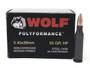 Wolf 5.45x39mm Ammunition WPA Polyformance 55 Grain Hollow Point Case of 750 Rounds