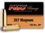 PMC 357 Magnum Ammunition PMC357A 158 Grain Jacketed Soft Point CASE 1000 rounds